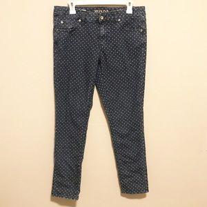 Merona Ankle Skinny Polka Dot Jeans Size 10